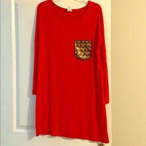 Red/orange dress or piko